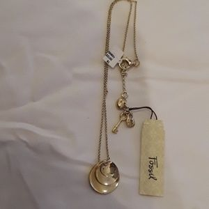 Fossil golden necklace NWT.